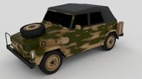 VW Type 181 Army 3D Model