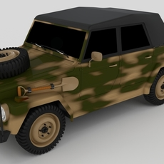 VW Type 181 Army 3D Model