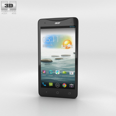 Acer Liquid S1 Black Phone 3D Model