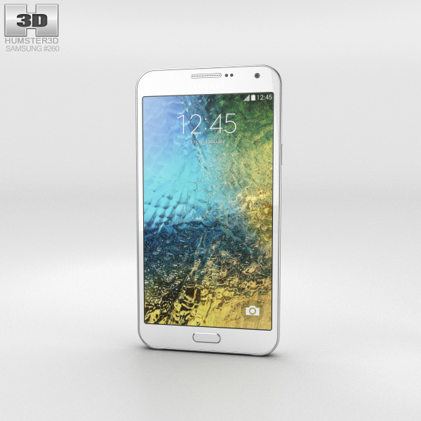 Samsung Galaxy E7 White Phone 3D Model
