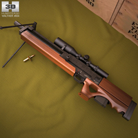 Walther WA 2000 3D Model