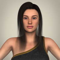 Realistic Young Gorgeous Woman 3D Model