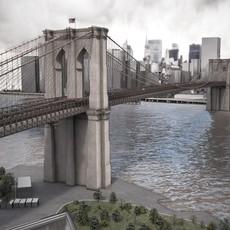 Brooklyn Bridge New York City 3D Model