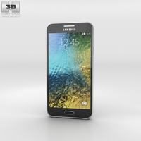 Samsung Galaxy E5 Black Phone 3D Model