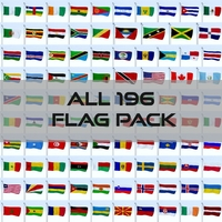 All 196 Flag Pack 3D Model