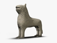 Ancient stone lion 3D Model