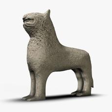 Ancient stone lion 3D Model