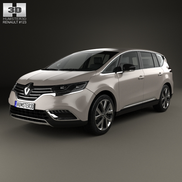 renault espace 2015 3d model. Black Bedroom Furniture Sets. Home Design Ideas
