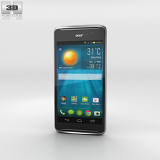 Acer Liquid E600 Black Phone 3D Model