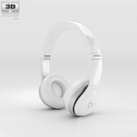 Beats by Dr. Dre Solo2 Wireless Headphones White 3D Model