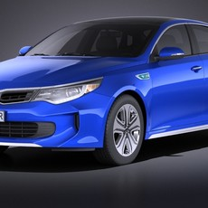 Kia Optima Hybrid 2017 VRAY 3D Model