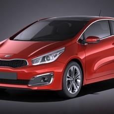 Kia PRO Ceed 2017 VRAY 3D Model