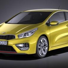 Kia PRO Ceed GT 2017 VRAY 3D Model