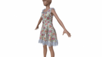 Free Dress low-poly 3D Model