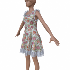 Dress low-poly 3D Model