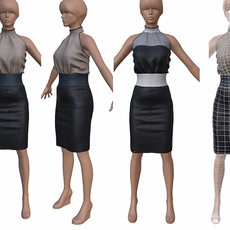 MiniSkirt low-poly 3D Model
