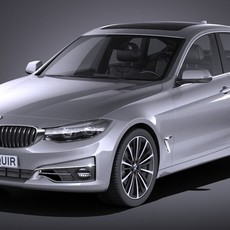 BMW 3 GT f34 2017 3D Model