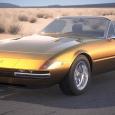 Ferrari Daytona Spider 1968-1973 3D Model
