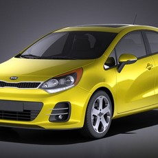 Kia Rio Hatchback 5-door 2017 VRAY 3D Model