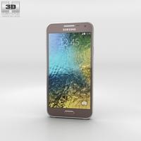 Samsung Galaxy E5 Brown Phone 3D Model