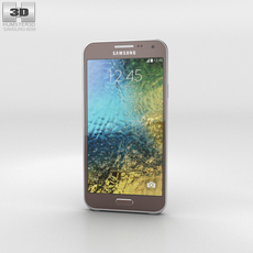 Samsung Galaxy E5 Brown Phone 3D Model