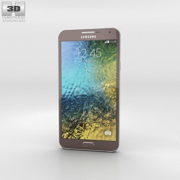 Samsung Galaxy E7 Brown Phone 3D Model