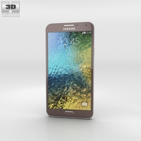 Samsung Galaxy E7 Brown Phone 3D Model