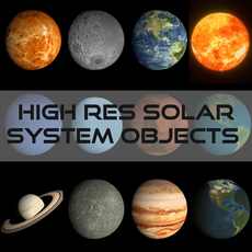 12 Animated High Definition Solar System Planet Pack 3D Model