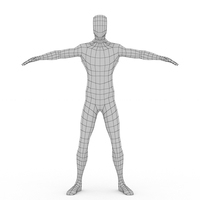 base body character human humanoid male man mesh people 3D Model