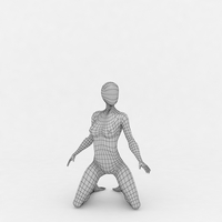 Female Base Mesh 3D Model