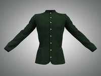 Men's Green Velvet Jacket 3D Model