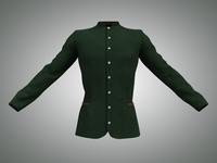 Men's Green Velvet Jacket 3D Model