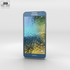 Samsung Galaxy E5 Blue Phone 3D Model
