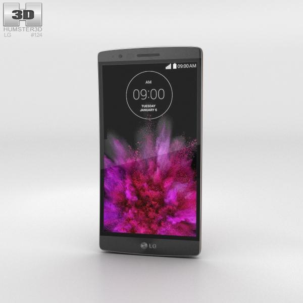 LG G Flex 2 Flamenco Red Phone 3D Model