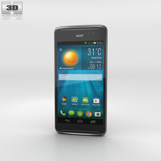 Acer Liquid E600 Dark Red Phone 3D Model