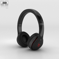 Beats by Dr. Dre Solo2 Wireless Headphones Black 3D Model