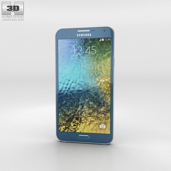 Samsung Galaxy E7 Blue Phone 3D Model