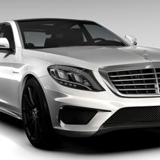 Mercedes Benz S 63 AMG W222 2016 3D Model