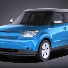 Kia Soul EV 2016 VRAY 3D Model