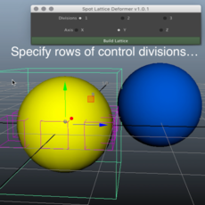 Spot Lattice Deformer for Maya 1.0.1 (maya script)