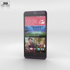 HTC Desire 826 Purple Dark 3D Model
