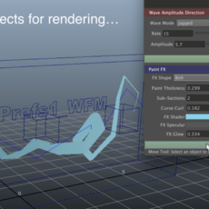 Waveform Motivator for Maya 1.0.0 (maya script)