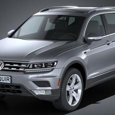 Volkswagen Tiguan Allspace 2018 3D Model