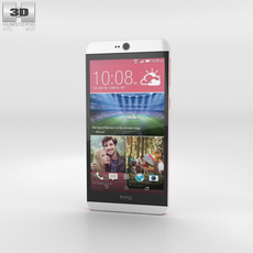 HTC Desire 826 Purple Fire 3D Model