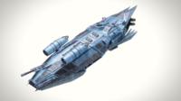 Spaceship Dropship 3 3D Model