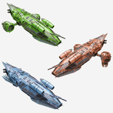 3d collect of Spaceships 3D Model