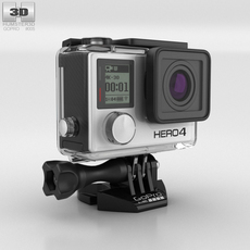 GoPro HERO4 Silver 3D Model