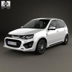 Lada Kalina (2192) Sport 2014 3D Model