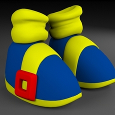 Toon Shoes 3D Model