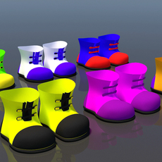 Cartoon Shoes 3D Model